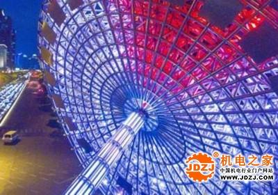 上海世纪大道景观灯光提升改造完成!