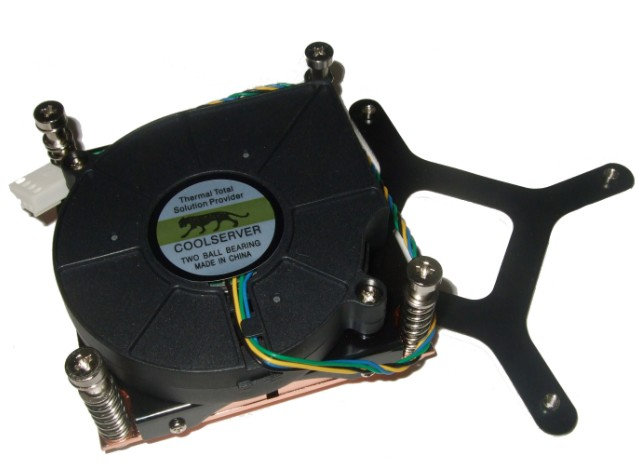 1U 775針CPU風扇 1U 775銅散熱器