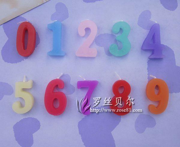 04数字蜡烛 蛋糕店必备数字蜡烛批发 吉林数字蜡烛厂家