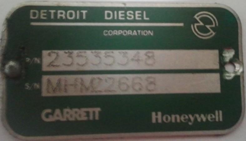 拖拉机起动机接线图-底特律发动机的涡轮增压器PN 23535348产品展示 底特律发动机的涡图片