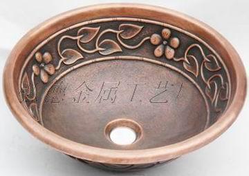 纯手工铜盆1227-L