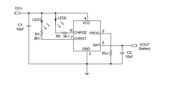 机电之家网 产品信息 电子 集成电路/ic >1a单节锂电充电ic(ch6210)