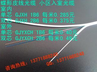 室外双芯GJYXCH-2B6a 每米0.49元 蝶形皮线光缆 入户