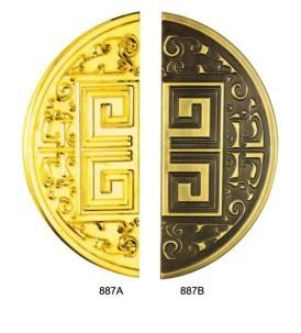 广东厂家生产黑金金玻璃门大拉手 寓地五金拉手