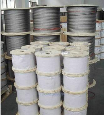 304不銹鋼鋼絲繩價格,深圳1.2MM自動晾衣架鋼絲繩