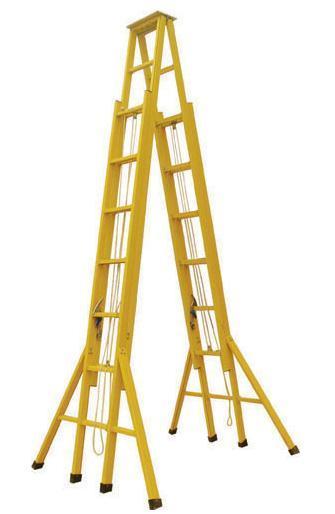 线路检修用电工绝缘梯,驻马店玻璃钢绝缘关节梯供应