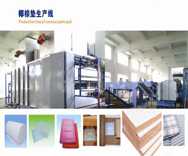 椰棕床墊生產設備,椰棕墊生產線,棕絲生產線