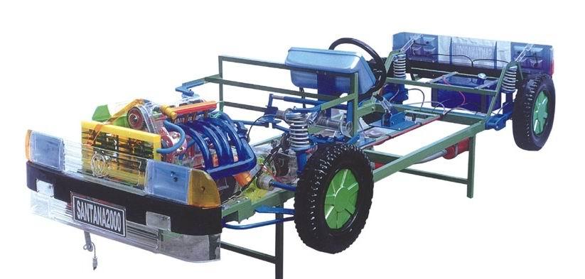 桑塔纳2000透明整车模型 汽车透明模型