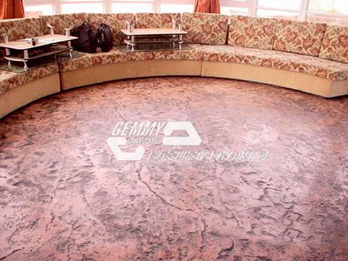 仿石压模混凝土/新型硬质路面铺装材料/压花地坪的做法