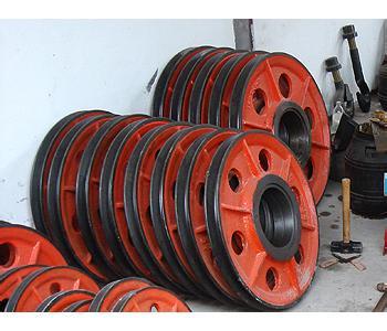 起重机吊钩专用轮片,起重机定滑轮配件,起重机动滑轮配件价格