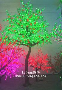 潞丰长期供应led樱花树树灯 led景观树灯 庭院灯水晶发光树造型