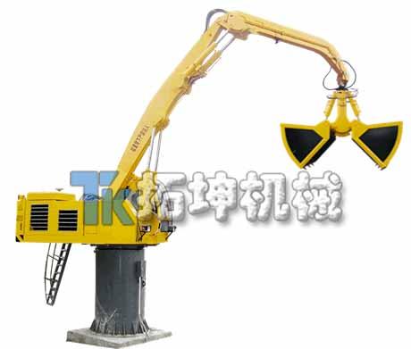 供應電動液壓固定式抓料喂料機 抓礦砂蔗木廢鋼廢料機 扒料機