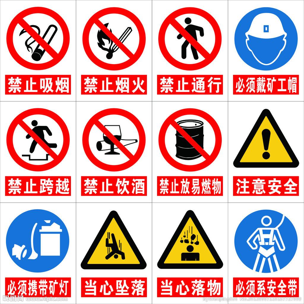禁止标志; 幼儿园安全标识简笔画