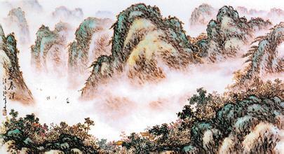 四是汪氏山水画画上,一般都配有杖藜芒屩,策驴寻幽,携琴访友的小人物