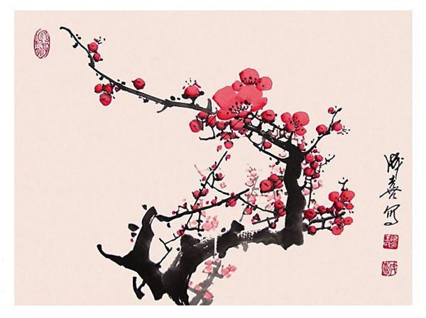 王成喜梅花作品欣赏 3 中国著名国画艺术家王成喜作品欣赏