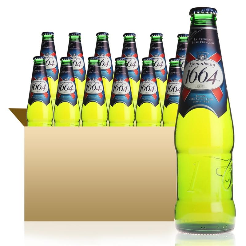 法国克伦堡凯旋1664黄啤酒 330ml*24瓶 132元/件
