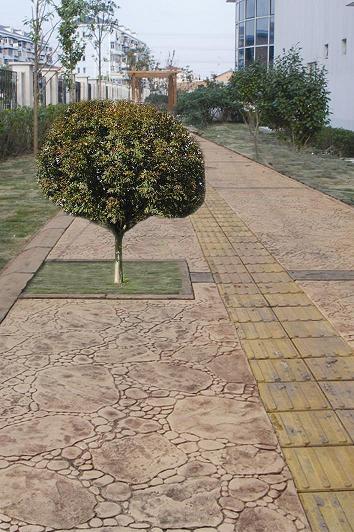 信阳水泥压模地坪材料/许昌压花混凝土价格/新乡彩色混凝土施工模具