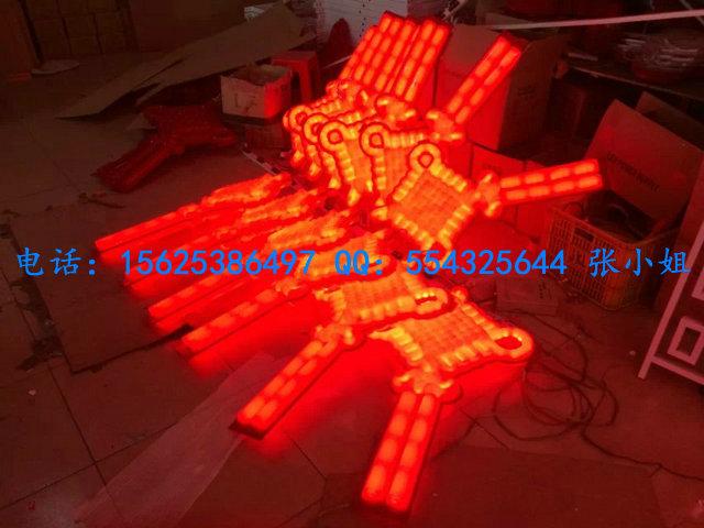 LED中国结灯、连体1050X600MM、最大号中国结河南安阳亮化