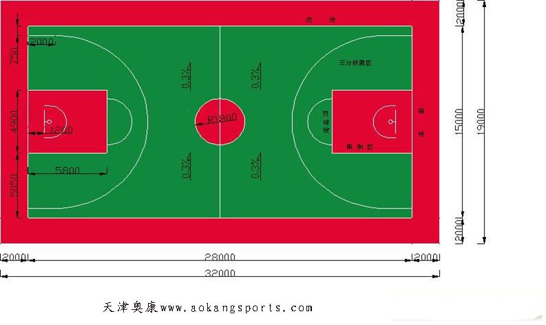 朝阳塑胶篮球场施工-价格图片