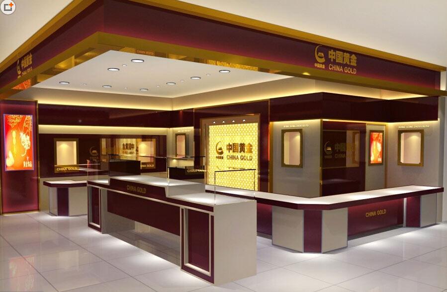 高档自然安阳商场中式欧式珠宝展柜装修设计图片
