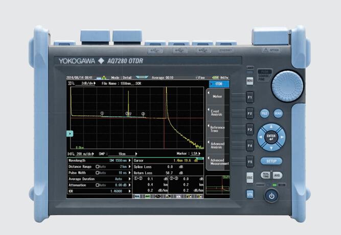 AQ7280橫河推出新款電容式觸摸屏按鍵兩用OTDR光時域反射儀