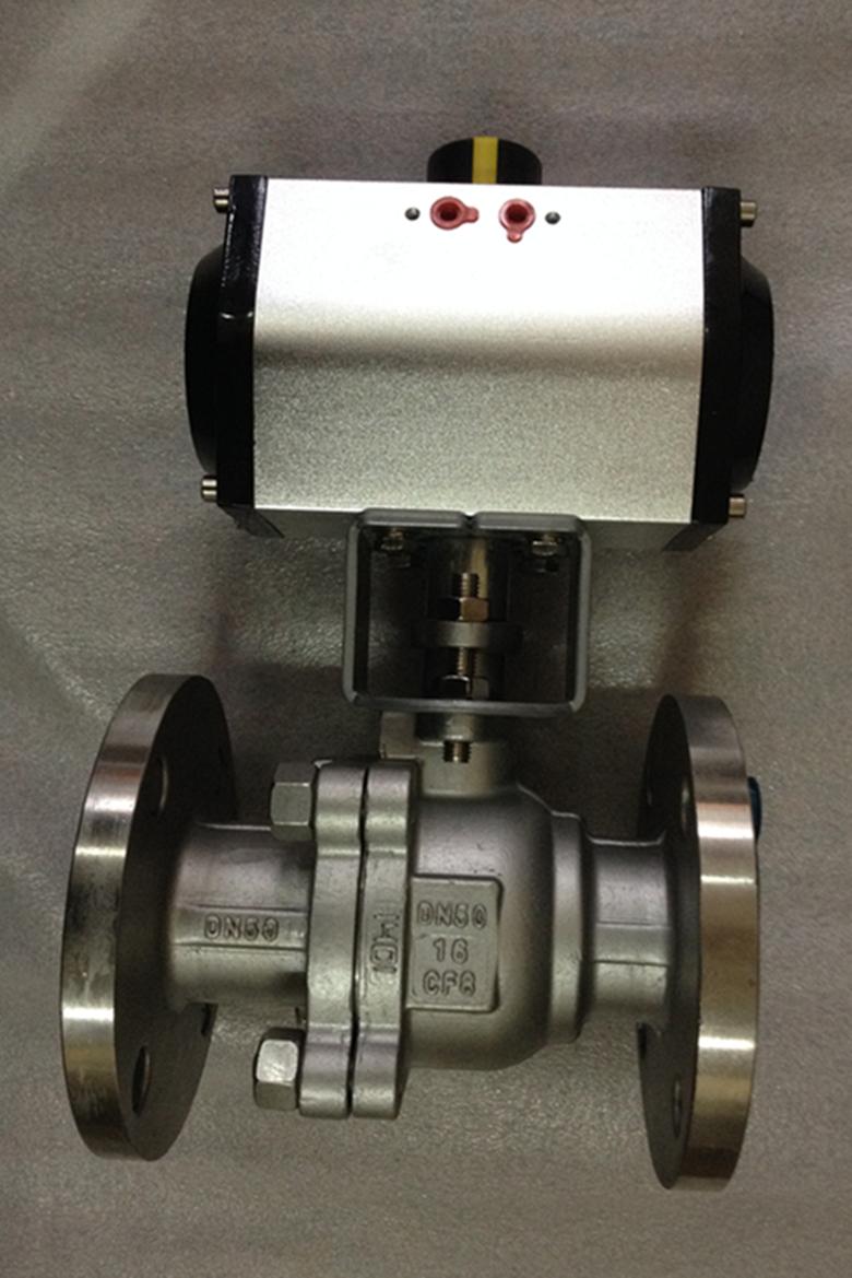 氣動不銹鋼法蘭球閥Q641F-16P