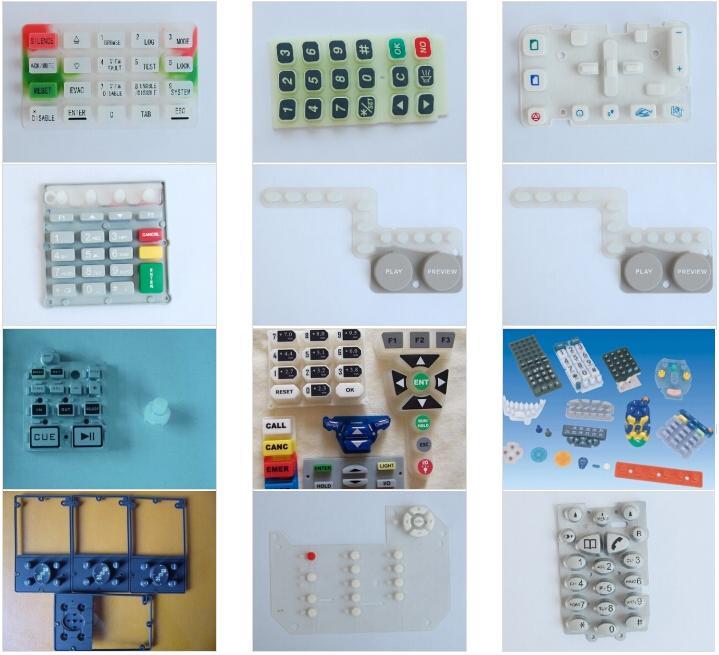 硅膠按鍵圖形訂做/硅膠按鍵形狀定制/硅膠按鍵款式訂購生產制造