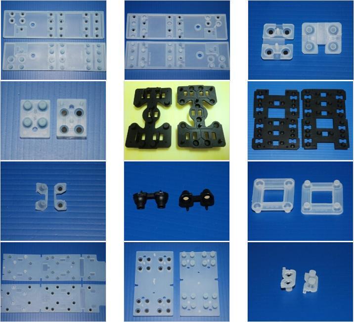硅膠按鍵尺寸圖/硅膠按鍵規格圖/硅膠按鍵實物圖選型