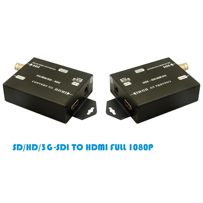 安防专用 SDI转HDMI转换器单路1080p带音频同时转换