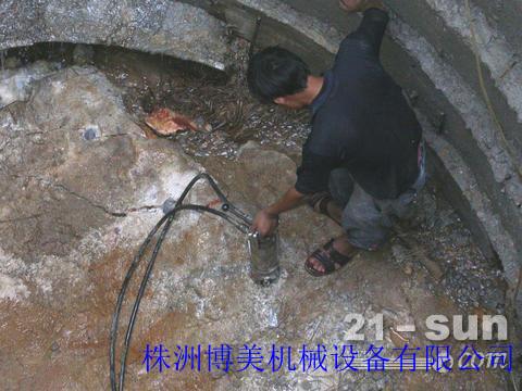 婁底巖石破開器-井樁,溝渠巖石去除最佳設備