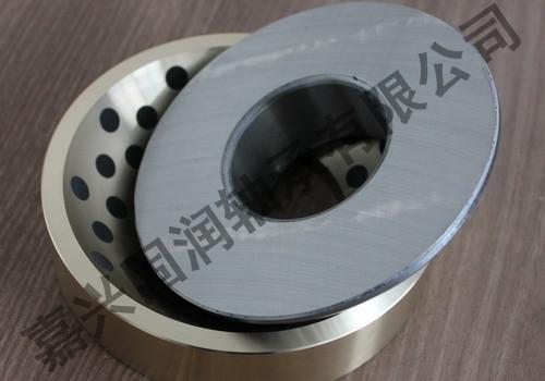 GAC銅合金鑲嵌式自潤滑角接觸關節軸承