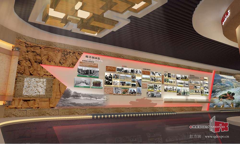 海关总署广东分暑文化墙建设|文化长廊设计效果图