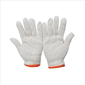 龙腾正品加厚白棉线手套劳保手套700g