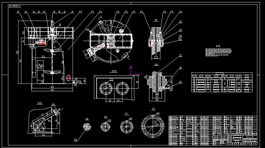 双叶轮高浓度搅拌槽CAD图纸