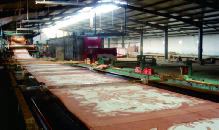 東山廣信J08型磁棒自動平網印花機毛毯地毯印花專用