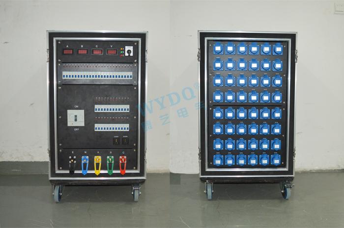 舞臺專用控制箱/48路航空插頭配電柜/電源直通箱