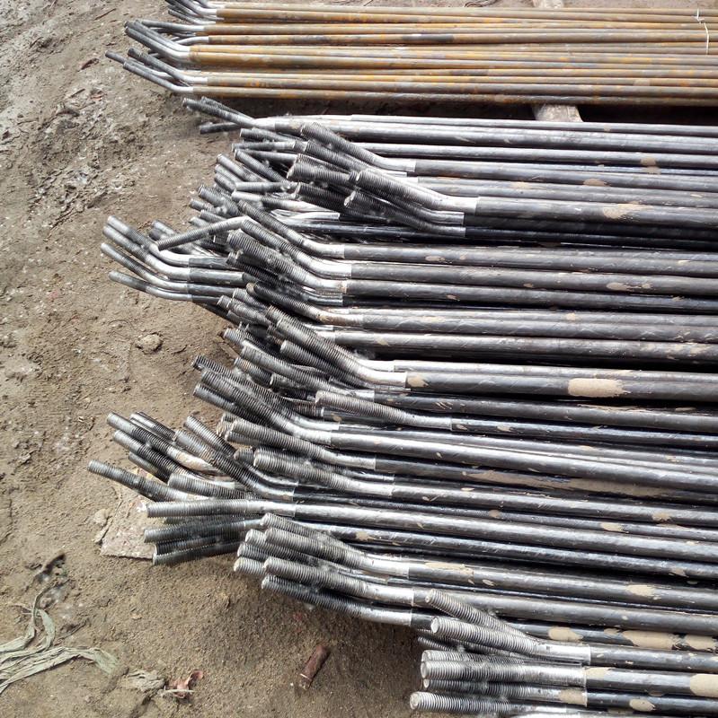 钢结构斜拉条/檩条 m12镀锌拉条双头螺丝
