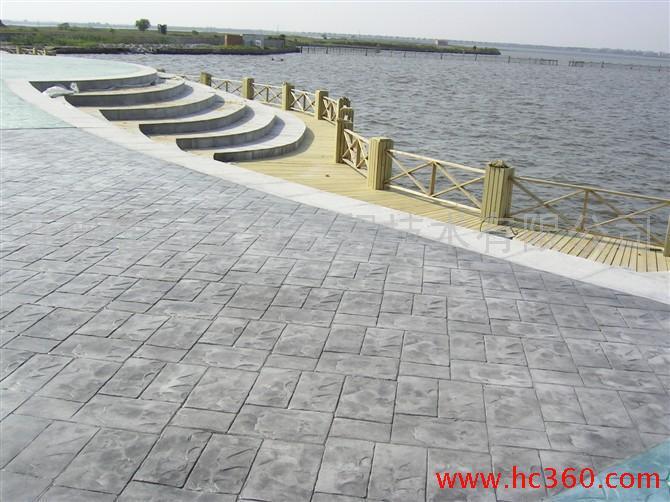温州仿木工艺木纹地坪|永嘉水泥压花地坪价格|平阳压模混凝土