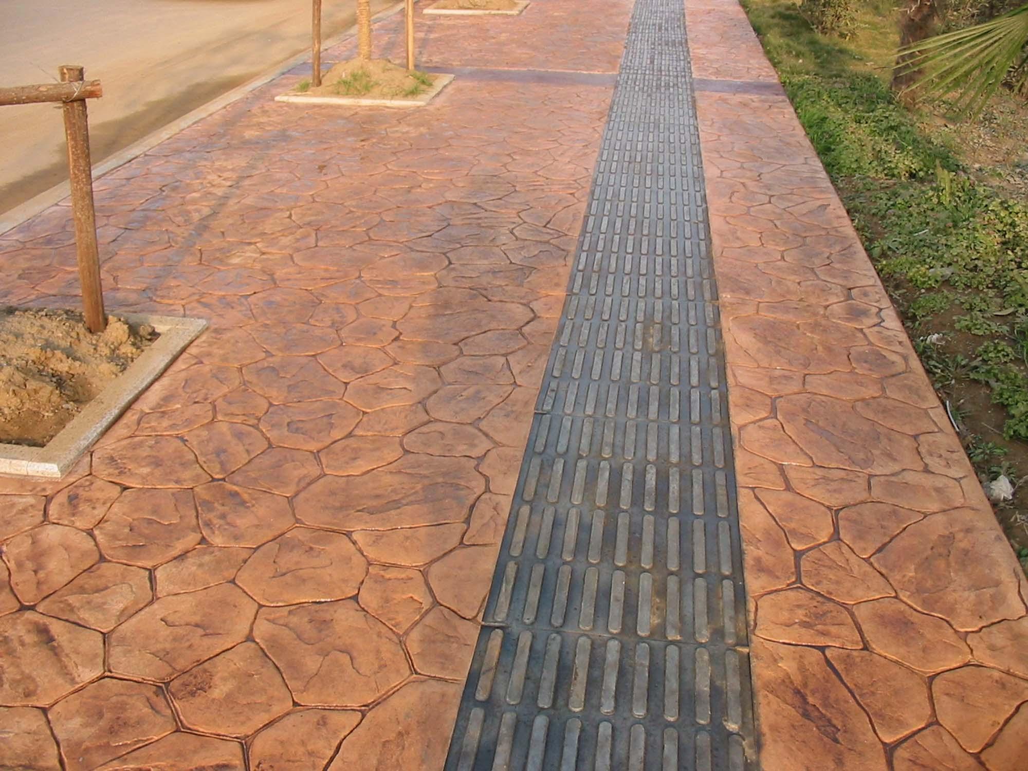 吉安防滑压模地坪|安福水泥压花地坪|青原混凝土仿木纹压印地坪