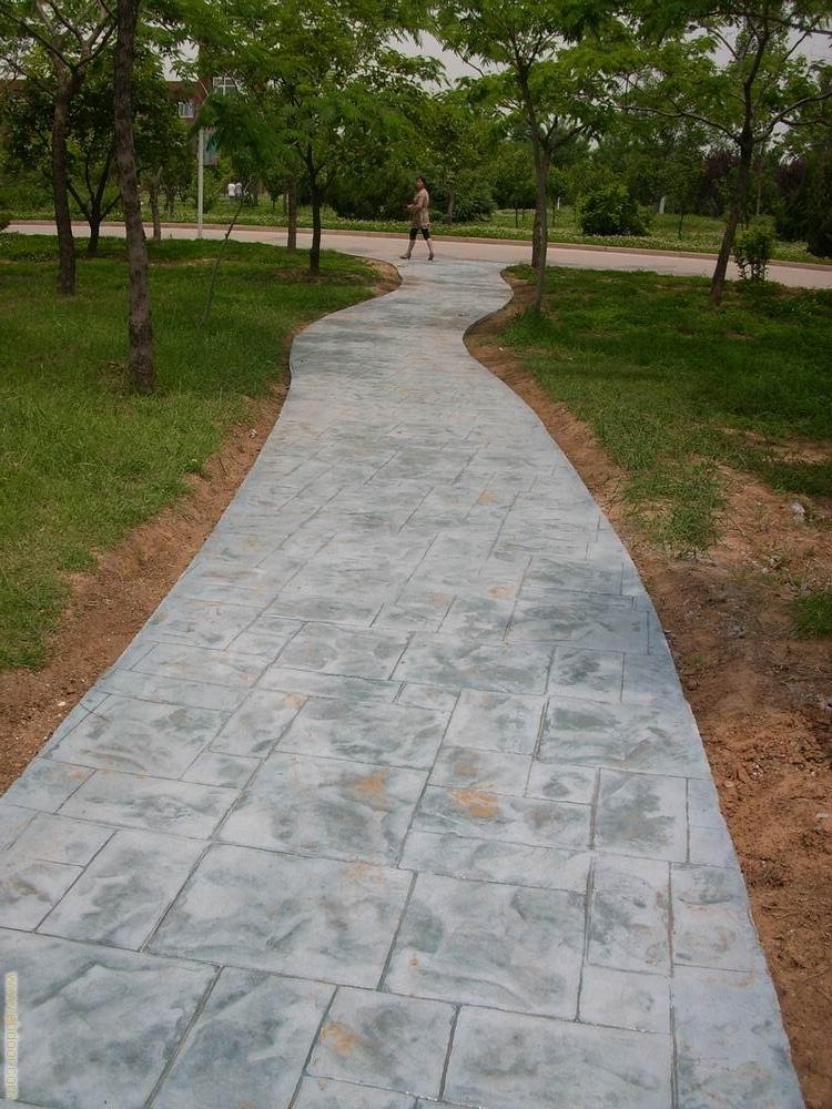 宜春仿彩砖压模地坪|宜丰水泥压印铺地材料|樟树混凝土艺术地坪