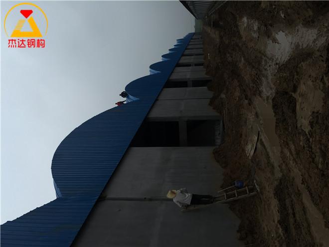 工业厂房杰达拱形屋顶应用于江苏省海门市