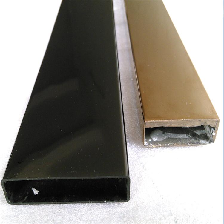 黑鈦金不銹鋼矩形管30*15*0.4 鏡面彩色不銹鋼管