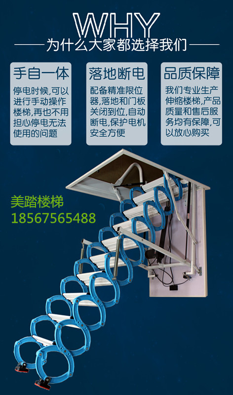 全自动阁楼隐形楼梯品牌,全自动隐形楼梯专卖店