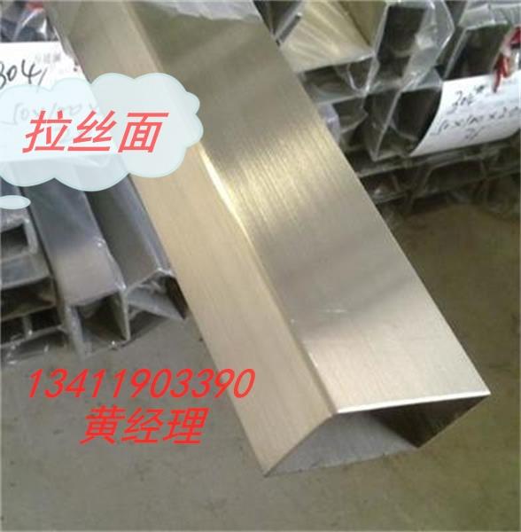 316L不锈钢拉丝矩管60*120*5.0制品/机械/装饰用管
