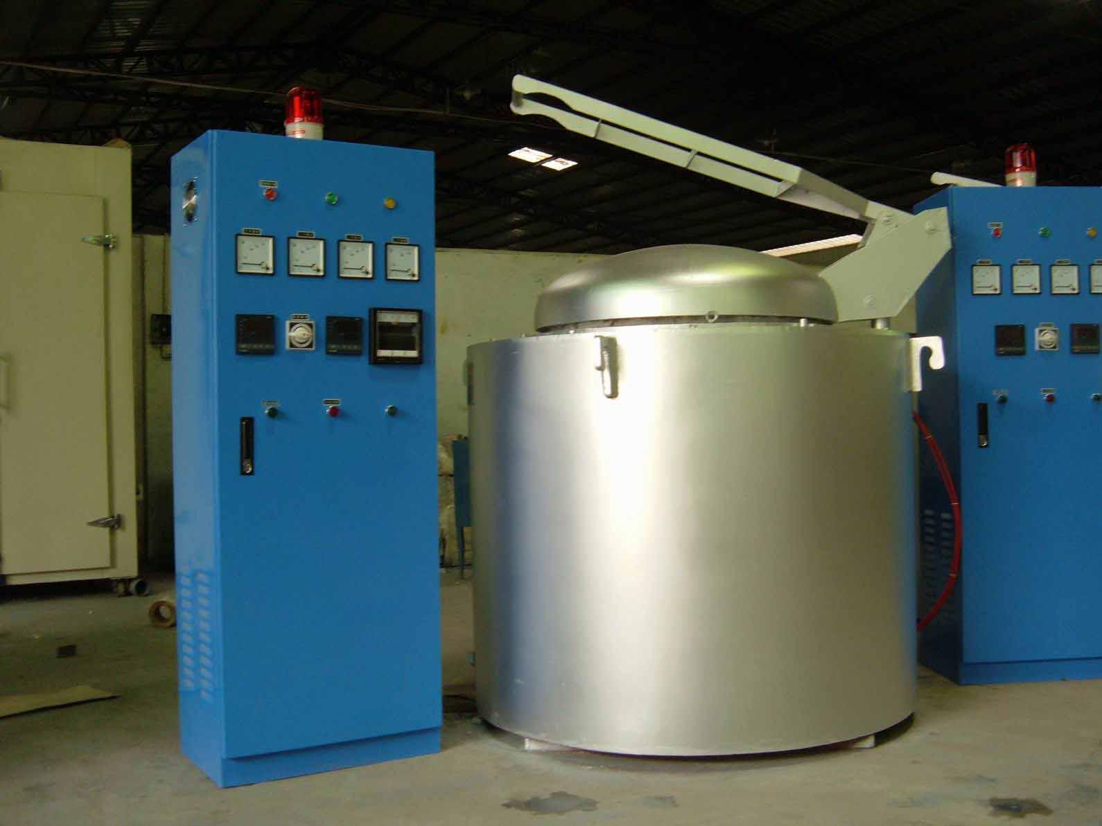 供应100KG铝合金熔炉 坩埚熔化炉