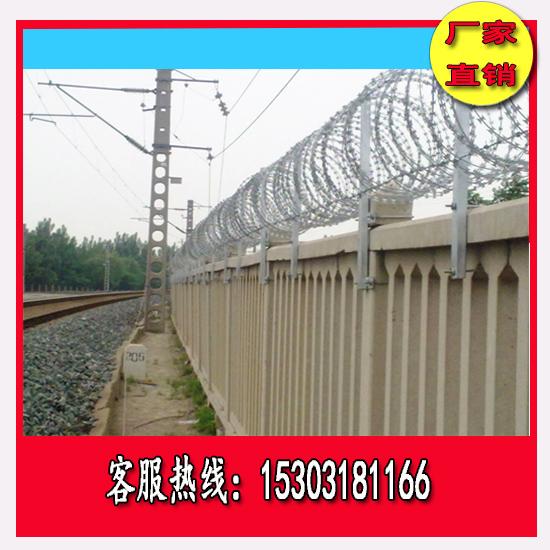宁夏高铁防护栅栏刺丝滚笼价格
