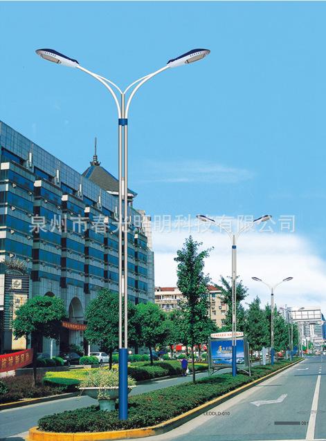 10米双臂路灯 10米LED路灯  120W城市LED道路照明灯