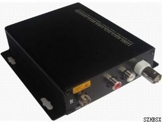 1路视频+1路立体声视音频光端机
