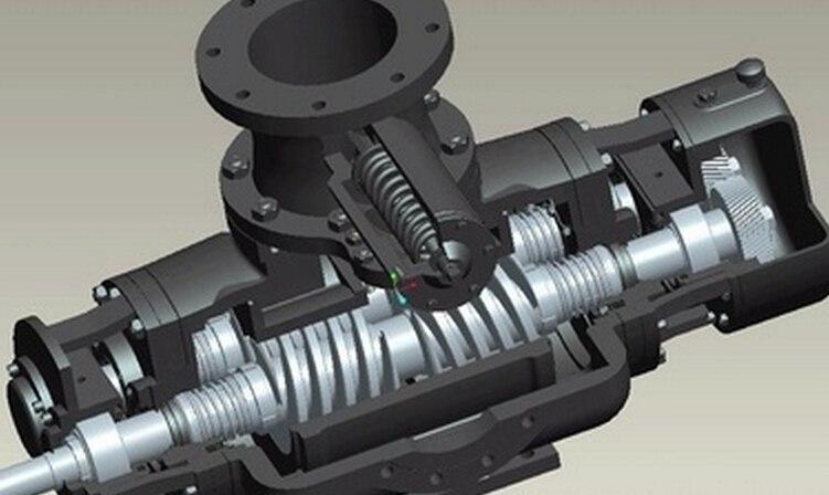 干式旋片真空泵    VT4.4 3-ph 0,18/0,21 kW