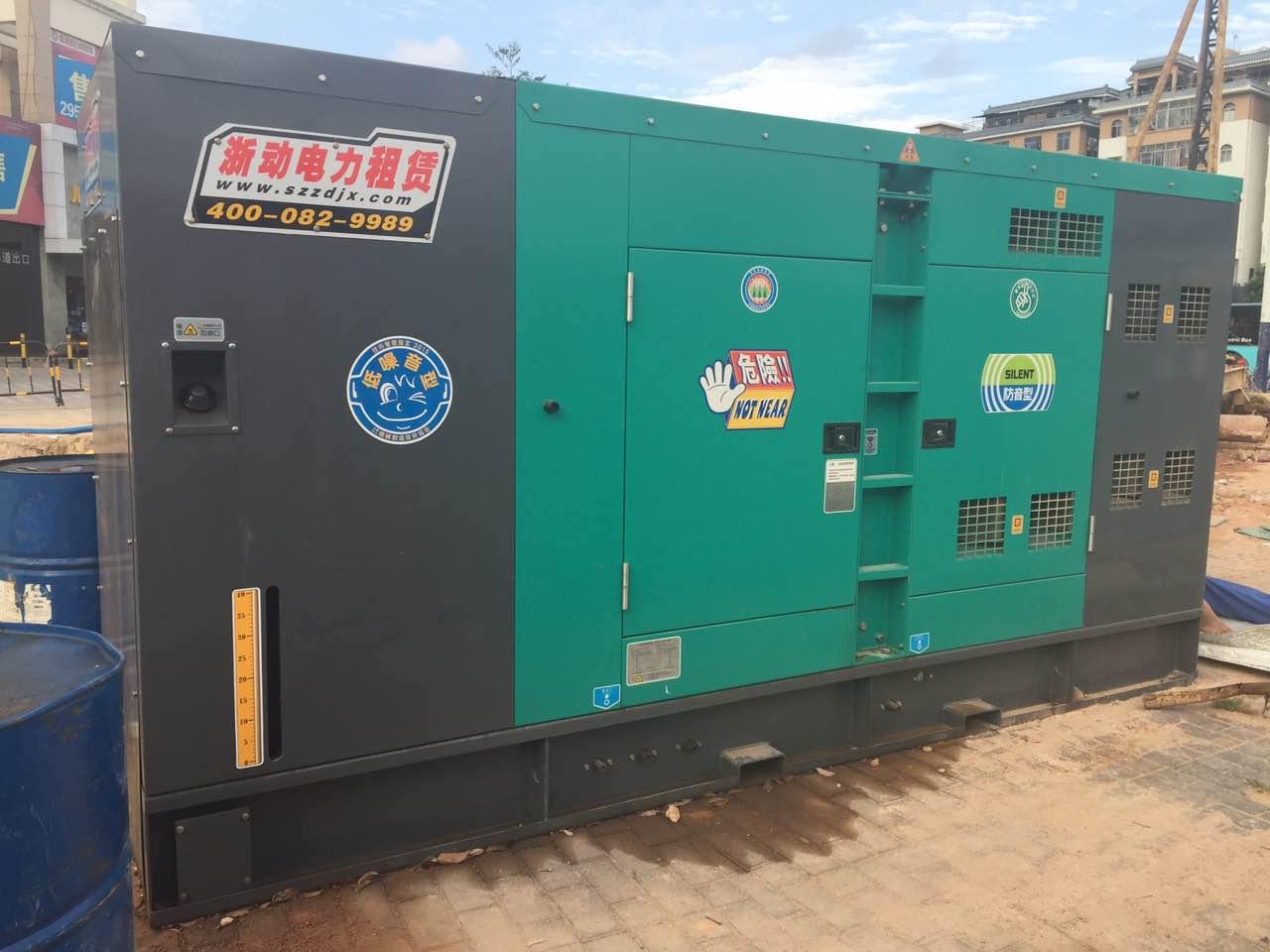 海口龙昆南旧城改造静音型柴油发电机出租